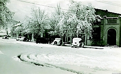 "It was truly a ""White Christmas"" in 1936 as this Green Street photo taken on December 25, 1936 shows."