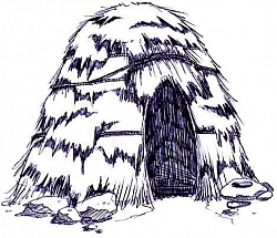 The People were snug and warm inside their winterhouse.
