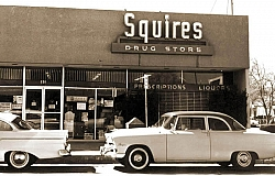 After the 1952 earthquake, the new building housed several businesses including Yeager's, Squire's, and the Post Office