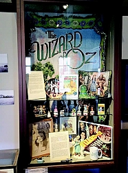 Rita Romano's collection of Wizard of Oz memorabilia is featured in the Community case in the main gallery