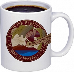 Available In the new Museum Gift Shop: Coffee mugs with the Tehachapi Heritage League logo.