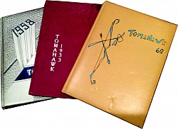 "Our Research Library has been collecting old ""Tomahawk"" annuals for many years. Our collection is missing 1936, 1942, 1949, 1951, 1954, 1956, 1959, 1962 to 1966, 1977, 1979 to 1997, and 1999 to present. If you have an old ""Tomahawk"" annual that you would like to donate to our collection please contact us at 661-822-8152."
