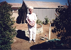 Mary Farrell, first Errea Garden Chairperson, took on the task of designing the Errea Garden around the heirloom trees, shrubs and features that were installed by the Erreas.