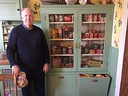 A new exhibit in the kitchen of the Errea House Museum shows items of a vintage kitchen of the 20s to the 40s. John Codd collected this items during his long career of as a grocery store Manager.