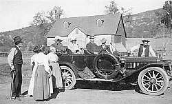 Fred and Mary Fickert, along with Nellie and Louise, send off Charles and Clara and their spouses after a visit to the ranch.