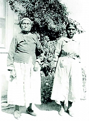 Rufugia Williams and Martina Collins were well known Kawaiisu Basket weavers