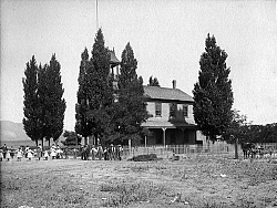 The Tehachapi Summit School which was located on Curry and I Streets Circa 1890s (Ed Wiggins Collection)