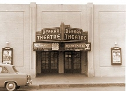 The BeeKay Theatre was showing an Elvis film when this photo was taken.