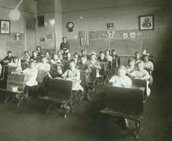 A classroom at the Tehachapi Elementary School on E Street.