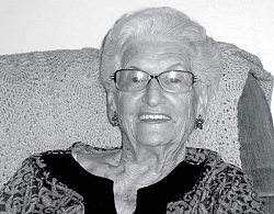 Photo of Dorothy Fritz Marble Newton taken on February 9, 2011, provided by Dottie's family.