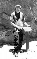 Lance Luttkus completed the installation of a plaque at the Golden Hills pictograph site as part of his Eagle Scout project.