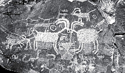 rock art in the Coso Range
