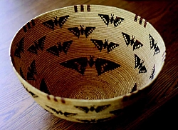 The Butterfly Basket, woven by Rosie Hicks in about 1920