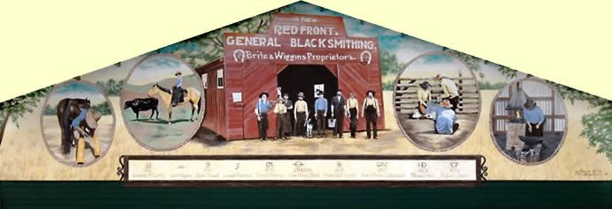 Red Front Blacksmith Shop mural