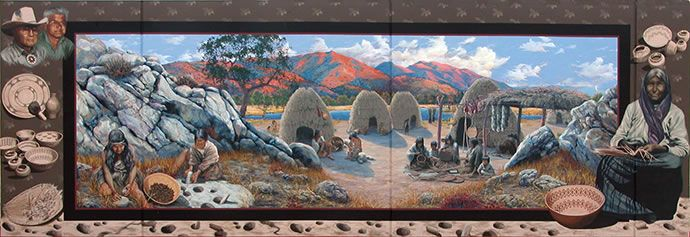 People of the Mountains mural